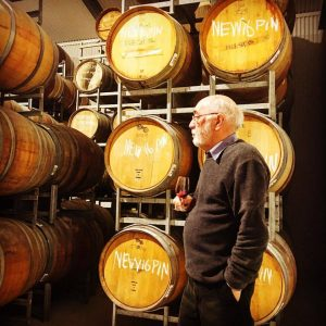 Robin Moody, Somerled wine maker in the barrel hall