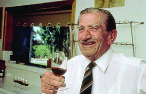 Max_Schubert_tasting_wine